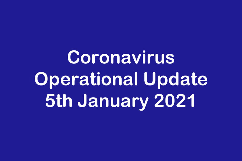 January 2021 - Operational Update for Coronavirus COVID 19 & Ecotec Windows