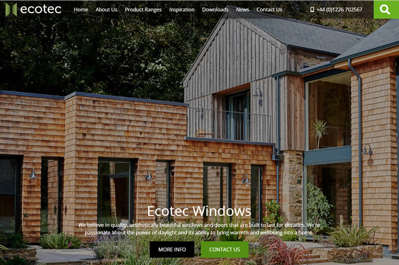 October 2020 - New Website Launched For Ecotec Windows