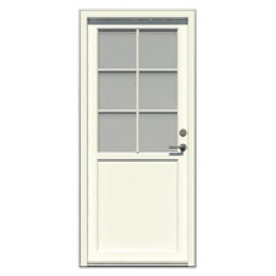 Entrance door - 6 glass panes, 1 smooth panel