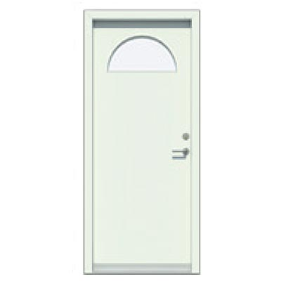 Panelled door - smooth, glass pane