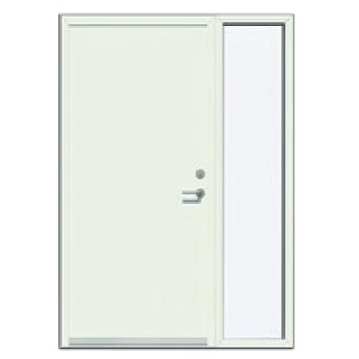 Panelled door with sidelight - Smooth